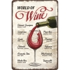 Nostalgic Tin Sign 20x30cm Open Bar World of Wine
