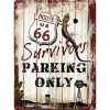 Nostalgic Μεταλλικός πίνακας 'Route 66 Survivors Parking Only'