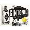 Nostalgic Tin Sign Gin Tonic