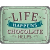 Nostalgic Μεταλλικός πίνακας Word Up Life Happens - Chocolate Helps