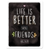 Nostalgic Μεταλλικός πίνακας Word Up Life is better with friends