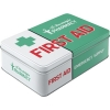 Nostalgic Tin Box Flat Nostalgic Pharmacy First Aid Green
