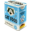 Nostalgic Tin Box L Animal Club Cat Food