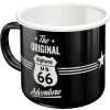 Nostalgic Enamel Mug Highway 66 The Original Adventure