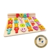 Svoora Wooden Alphabet with 50 Flash Cards (Greek Letters)