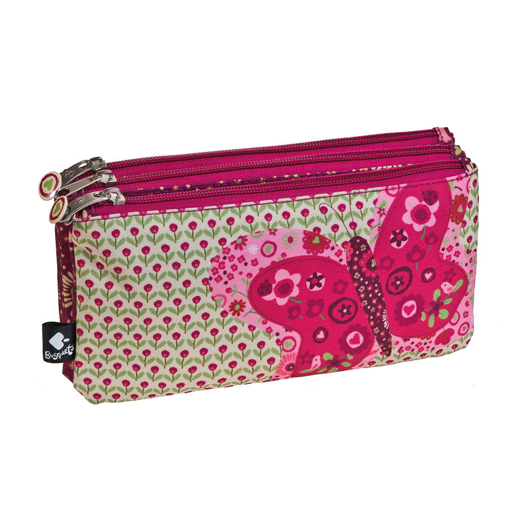 Pencil case compartments PATCHWORK spring